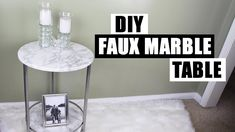How To Apply Contact Paper To Round Curved Surfaces How To Use Contact DIY Faux Marble Side Table - YouTube