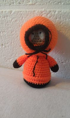 Crocheted Kenny McCormick from South Park - FREE Amigurumi Crochet Pattern and Tutorial
