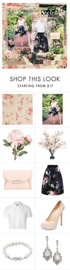 """""""SheInside"""" by kristina-kazlauskaite ❤ liked on Polyvore featuring OKA, Lux-Art Silks, Givenchy, Glamorous, Schutz, Jewel Exclusive, Natures Jewelry and Sheinside"""