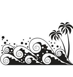 plage, mer , cocotier / vector graphics