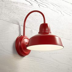 """Urban Barn Collection 13"""" High Red Outdoor Wall Light - #13F70 