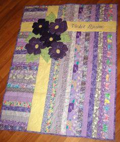 Stitchnquilt: Bloggers Quilt Festival Entry - Violets Quilt