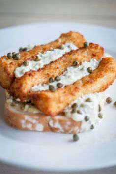Fishes fingers sandwich - Breaded fillets of Cornish fish, lashings of tartare sauce on soft white with chips from #TheLivingSpace at Watergate Bay Hotel.