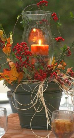 Fall decorations on pinterest autumn garden fall table for Do it yourself table decorations