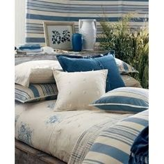 Ralph Lauren Catalina Island Blue Stripe Floral