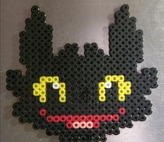 Toothless - How To Train Your Dragon hama perler beads by Sonja Ahacarne