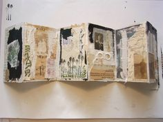 The Journal Diaries- Tina & # s Collage Journals / Seaweed Kisses - Documental ,viajes , coches y dieta Artist Journal, Art Journal Pages, Art Journals, Fabric Journals, Concertina Book, Accordion Book, Collages, Collage Book, Book Art