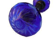 PICTURES OF VINTAGE GLASS DOOR KNOBS\ | Cobalt Blue Cut Glass Door Knobs Antique Vintage Style Doorknob