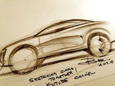 In the first video of his 'Sketching Cars Together' interactive live series, automotive designer Luciano Bove explains the basics of car drawing and gives some suggestions on the material to use in order to start. Car Drawings, Transportation Design, Design Tutorials, Art Forms, Industrial Design, Art Reference, Graffiti, Funny Stuff, Vehicle