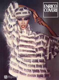 If Iman cannot make this work, how about the rest of us? Say no to 'fun fur' yarn!