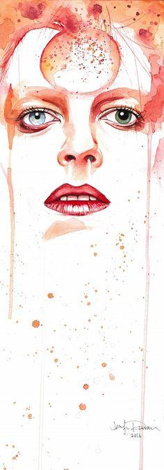 """""""Face the Strange"""" David Bowie watercolor painting by Jennifer Sonksen Duran - Art By Jen Duran"""