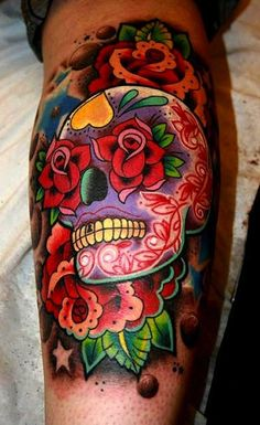 Sugar skull tattoos #tattoo #ink