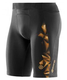 721c659bd1 Skins A400 1/2 shorts Black Tights, Compression Shorts, Running Gear, Black