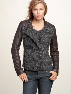 Gap Leather-Trim Boucle Jacket ($298)