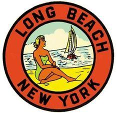 Vintage Decal - Long Beach, NY