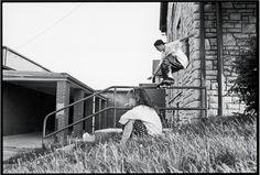 Rob Dyrdek, Noseslide. Photo by Dave Swift. 1992.