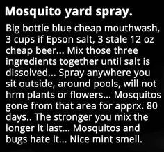 A must try For MOSQUITOES Flies Repellent Outdoor, Ants Repellant, Dyi Mosquito Repellent, Mosquito Spray For Yard, Tick Spray For Yard, Diy Mosquito Trap, Mosquito Trap Homemade, Bug Spray For Plants, Mosquito Killer