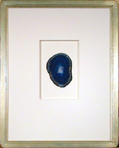 framed sliced agate