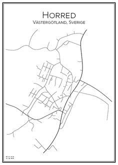 Herred. Marks kommun. Västra Götalands län. Sverige. Map. City print. Print. Affisch. Tavla. Tryck. Stadskarta.