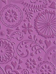 Floral Fantasy Cuttlebug embossing folder