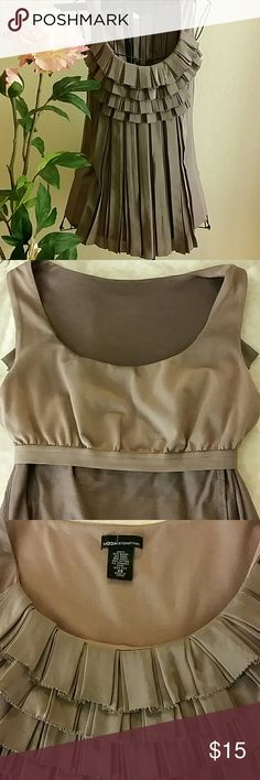 Blouse blouse with ruffled front Moda International Tops Blouses