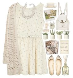 """""""Drink Tea"""" by heartart ❤ liked on Polyvore featuring Stonebriar Collection, Rachel Antonoff, Violeta by Mango, Carolee, Dr. Vranjes, Allstate Floral, Coach, Jansen+Co, Polaroid and EF Collection"""