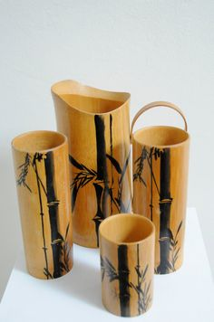 Tikki Bamboo drink set Made in Japan Pitcher and by HermanSchwartz, We had a set of these too. Still have a few.