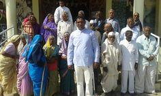 Baba sonawane with old people