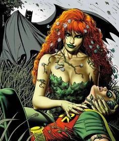 Poison Ivy is the pseudonym of Pamela Lillian Isley, a fictional supervillain appearing in DC Comics, commonly as an adversary of the superhero Batman. Created by Robert Kanigher & Sheldon Moldoff, the character made her first appearance in Batman (J Poison Ivy Batman, Poison Ivy Comic, Poison Ivy Dc Comics, Poison Oak, Catwoman, Batgirl, New 52, Harley Quinn, Poison Ivy Character