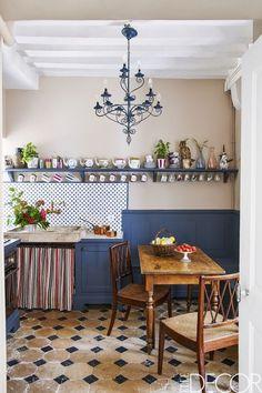 Blue Kitchen Chandelier  - ELLEDecor.com