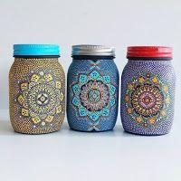 Mandalas Ideas: Mandala in a Mason Jar