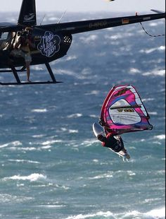 this morning on the Heli session! super windy on 4.0 Rc #windsurf