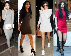 vestidos kardashian jenner basic dress