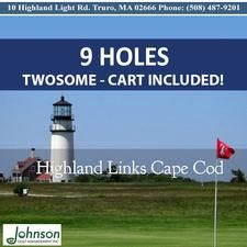 TWOSOME Highland Links Cape Cod Golf Course in Truro is offering 33% OFF a 9 hole TWOSOME (Golf Carts are Included)