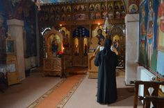 Praying in the chapel Monastery Icons, Painting, Art, Art Background, Painting Art, Kunst, Paintings, Performing Arts, Painted Canvas