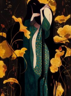 "inprnt:  ""Birth Of The Mermaid"" by Gillian Grossman on INPRNT"