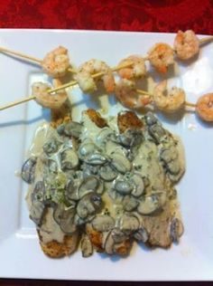 Low Carb Grilled Tilapia with Mushroom Sauce