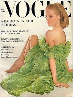 Vintage Vogue magazine covers - mylusciouslife.com - Vintage Vogue June 1963 - Celia Hammond.jpg