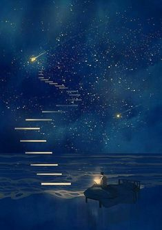 Fantasy art drawings pictures new Ideas Galaxy Wallpaper, Anime Scenery Wallpaper, Wallpaper Samsung, Fantasy Landscape, Night Skies, Sky At Night, Art Night, Stars At Night, Stars And Moon