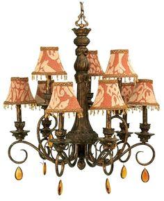 Classic bronze chandelier.