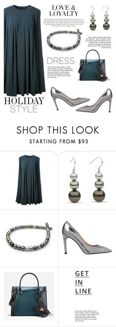 """""""Holiday Style: Oversized Dresses"""" by pearlparadise ❤ liked on Polyvore featuring CO, Whistles, CHARLES & KEITH, Lipsy, contestentry, holidaystyle, pearljewelry, pearlparadise and oversizeddress"""