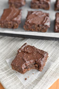 Quinoa Brownies with Chocolate Date Icing - She Bakes Here