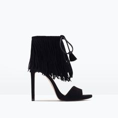 FRINGED HIGH HEEL SANDALS-Special Sizes-Shoes-WOMAN | ZARA United States