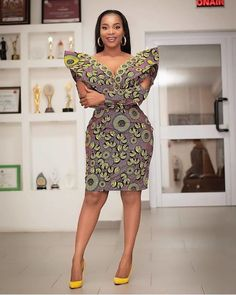 Stunning and Unique Ankara Short Gown Collection for 2020 Ankara Long Gown Styles, Ankara Short Gown Styles, African Dresses For Women, African Attire, Latest Ankara Styles, Short Styles, Short Dresses, Modern African Dresses, Ankara Gowns