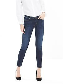 Indigo Skinny Ankle Jean is amazing! Very flattering. You can move in these jeans. My favorite.