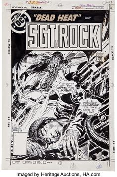 Original Comic Art:Covers, Joe Kubert Sgt. Rock #329 Cover Original Art (DC, 1979)....