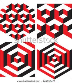 Abstract Background. Vector Geometric Isometric Pattern. - stock vector
