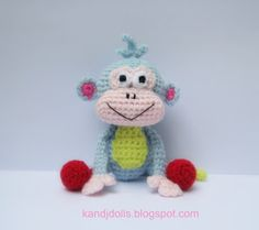 Boots - Monkey Amigurumi ~ Amigurumi crochet patterns ~ K and J Dolls / K and J Publishing