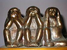 Singes de la sagesse — Wikipédia Cookie Cutters, 3 D, Google, Beautiful, Three Wise Monkeys
