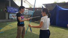 Teaching and learning how to shooting the bojjhanga archery